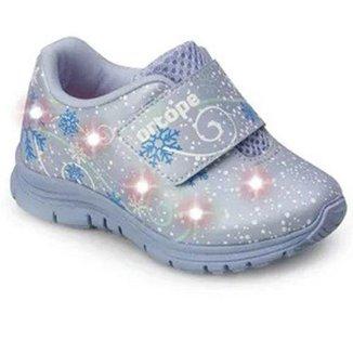 Tênis Ortopé Baby DNA Light LED Infantil Frozen O2159926* Feminino