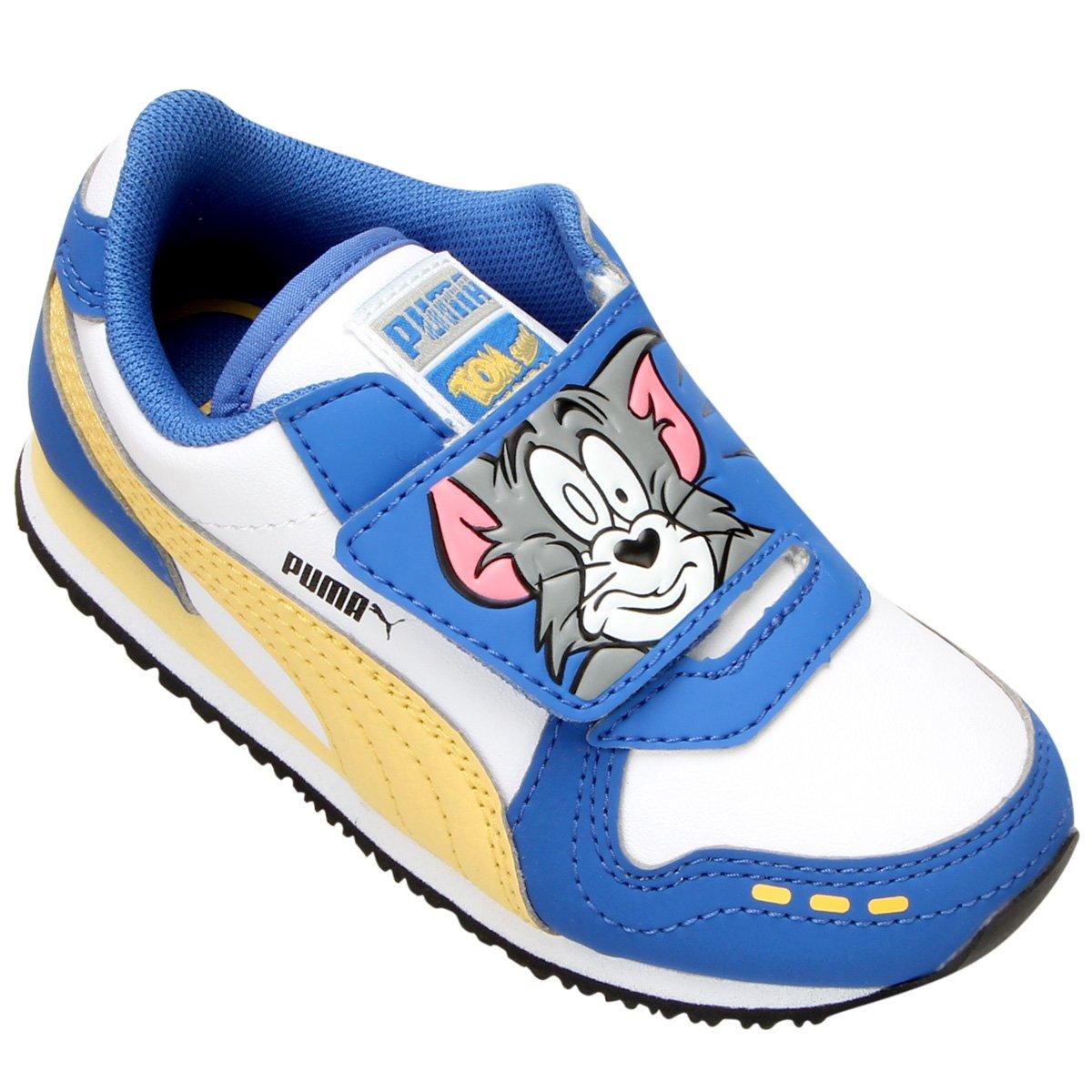 6d97b0b61497a Tênis Puma Cabana Racer Tom & Jerry Infantil | Zattini