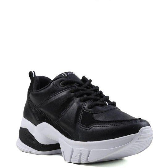 Tênis Ramarim Casual Sneakers Feminino - Preto