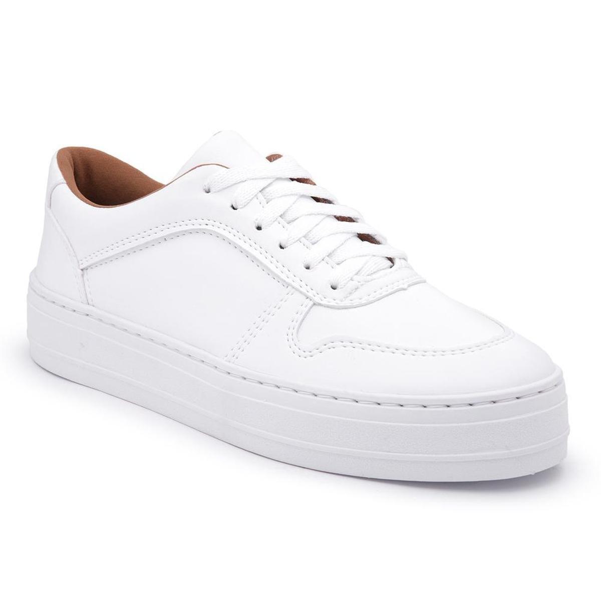 Tênis Sapatênis Confort Casual Tenehi Feminino 080 - Branco - Compre ... d8b6c57fe057f