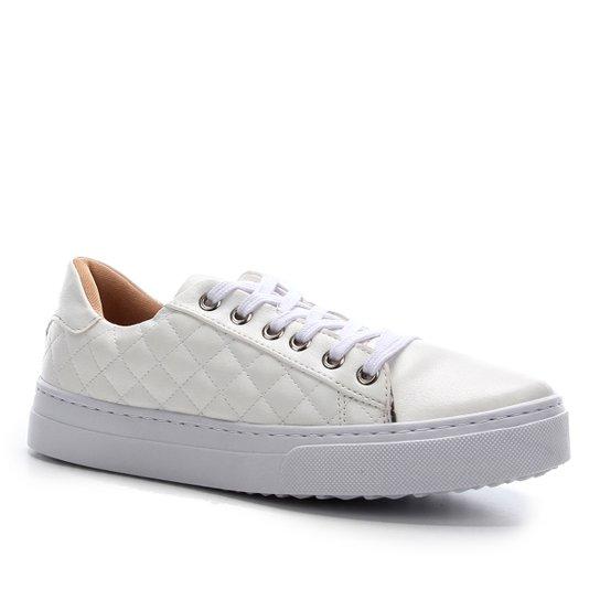 Tênis Shoestock Básico Matelassê Feminino - Branco