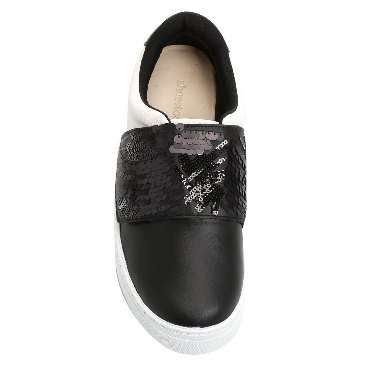 Velcro Paetê Preto Shoestock Tênis Bicolor Tênis Shoestock PqTzwIx