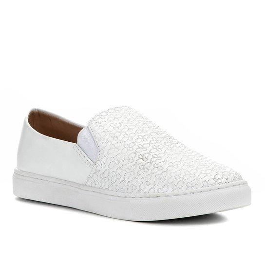 Tênis Shoestock Couro Crazy For Shoestock - Branco