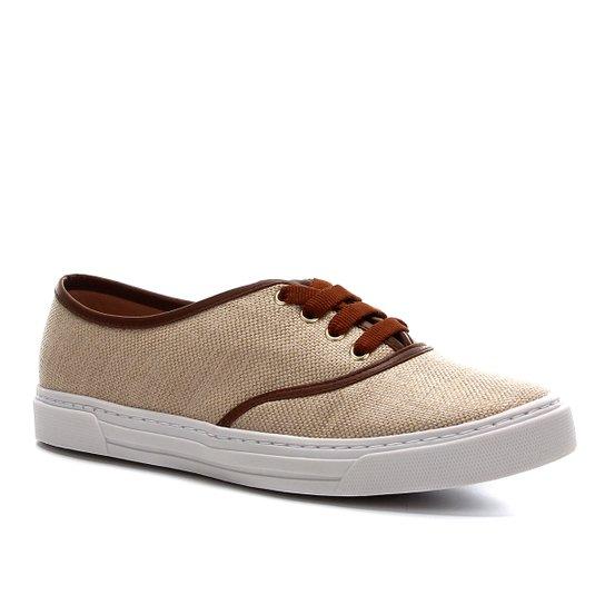 Tênis Shoestock Natural Sneaker Feminino - Bege+Marrom