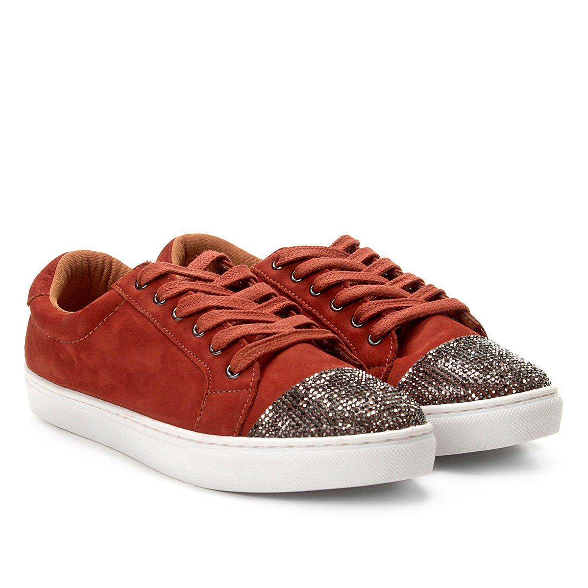 Tênis Shoestock Soft Crystal Nobuck Feminino - Caramelo