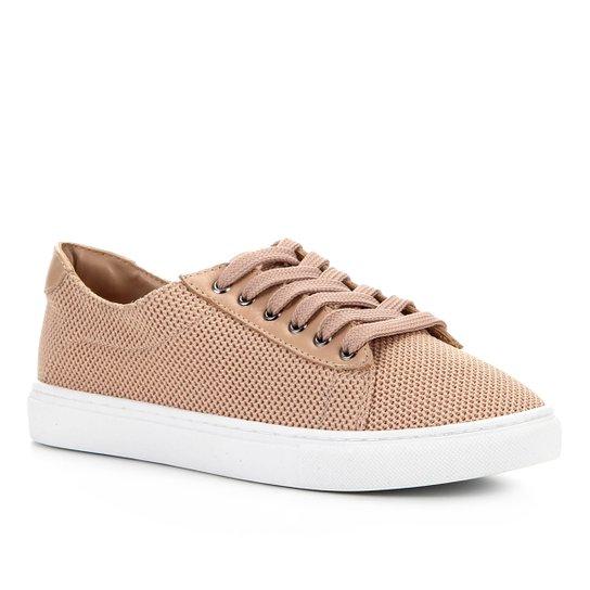 Tênis Shoestock Tricot Couro - Nude