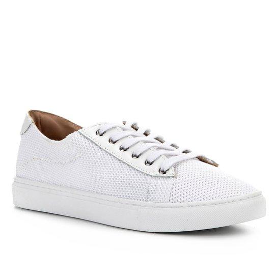 Tênis Shoestock Tricot Couro - Branco