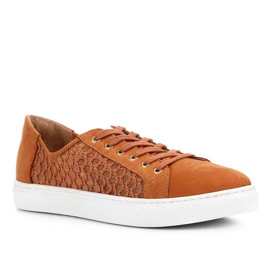 Tênis Shoestock Tricotrip Color - Caramelo