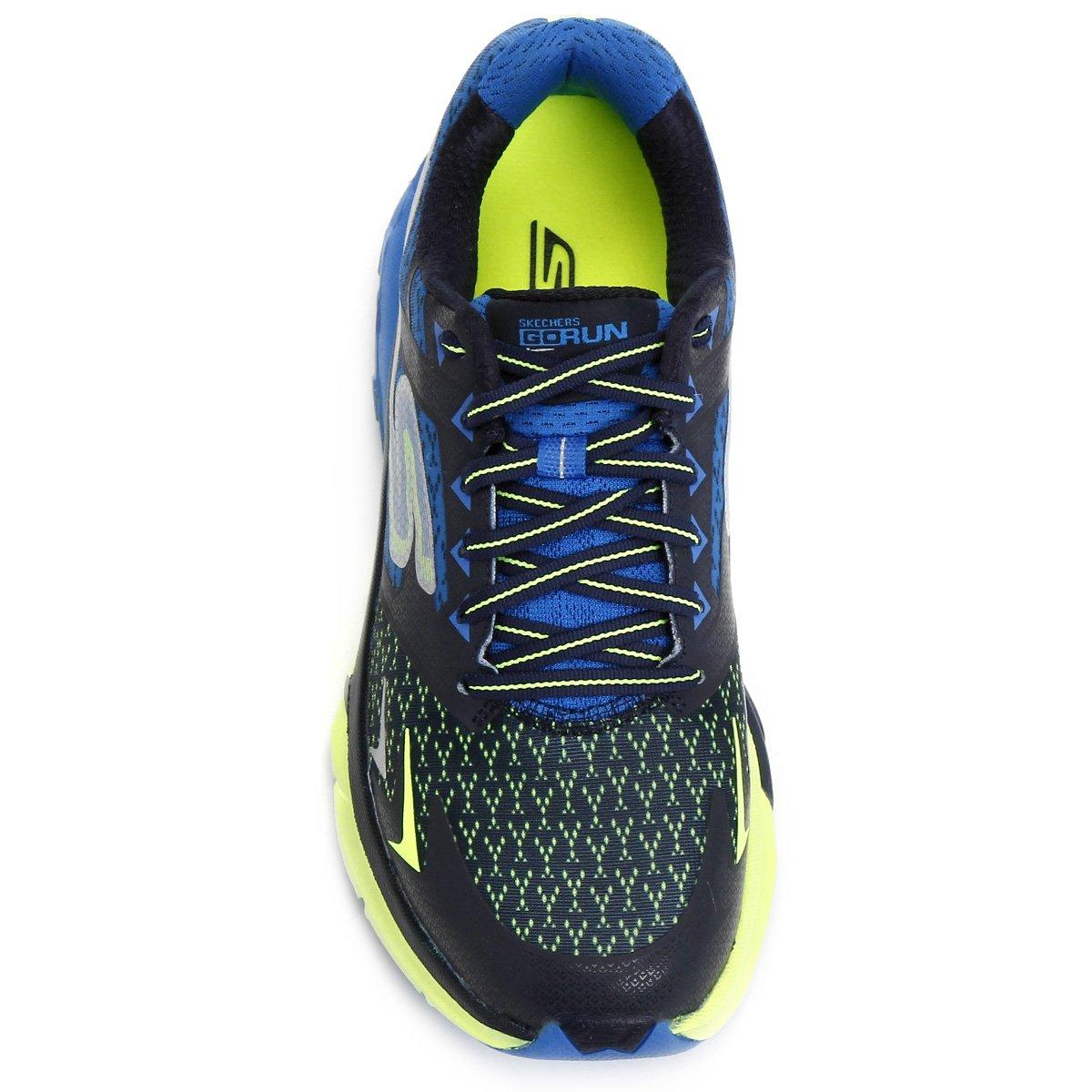 Tênis Skechers Go Run Forza Masculino - Marinho e Azul - Compre ... d0f86b51dde6d