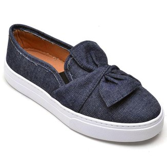Tênis Slip On Jeans Casual Cristaishoes Feminino