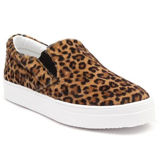 Tênis Slip On JL Shoes Casual Animal Print Feminino