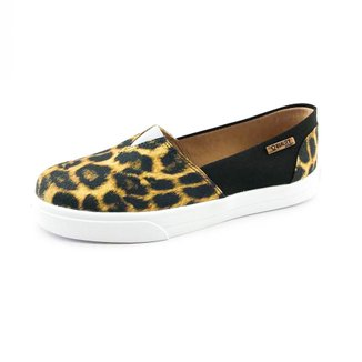 Tênis Slip On Quality Shoes Animal Print Feminino