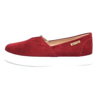 Tênis Slip On Quality Shoes Camurça  Feminino
