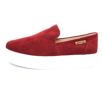 Tênis Slip On Quality Shoes Flatform Camurça Feminino