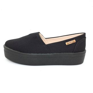 Tênis Slip On Quality Shoes Flatform  Lona Feminino