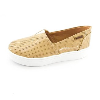 Tênis Slip On Quality Shoes Flatform Perfurado Feminino