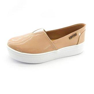 Tênis Slip On Quality Shoes Flatform Verniz Feminino