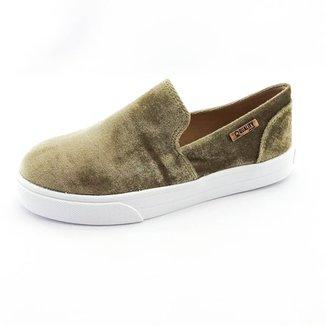 Tênis Slip On Quality Shoes Veludo  Feminino
