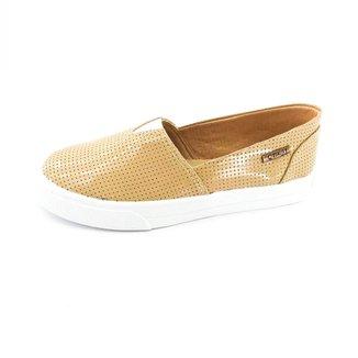 Tênis Slip On Quality Shoes Verniz Perfurado Feminino