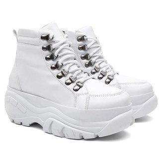 Tênis Sneaker Buffalo Feminino Cano Alto Zíper Conforto