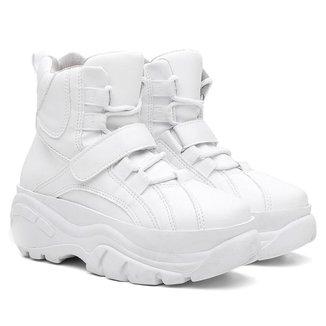 Tênis Sneaker Buffalo Feminino Plataforma Cano Alto Conforto