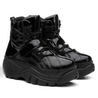 Tênis Sneaker Buffalo Feminino Plataforma Verniz Cano Alto Conforto