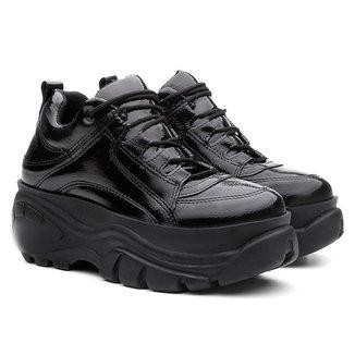 Tênis Sneaker Buffalo Vicerinne Verniz Plataforma Feminino
