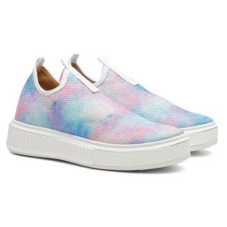Tênis Sneaker Feminino Tie Dye Vicerinne Believe Casual Meia