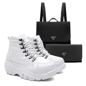 Tênis Sneaker Vicerinne Feminino Zíper + Mochila + Carteira