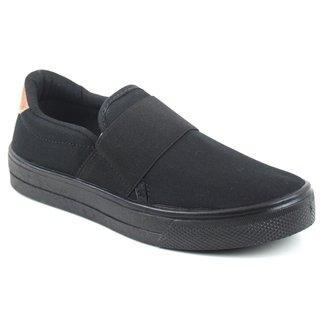 Tenis Tag Shoes Lona Elástico Feminino