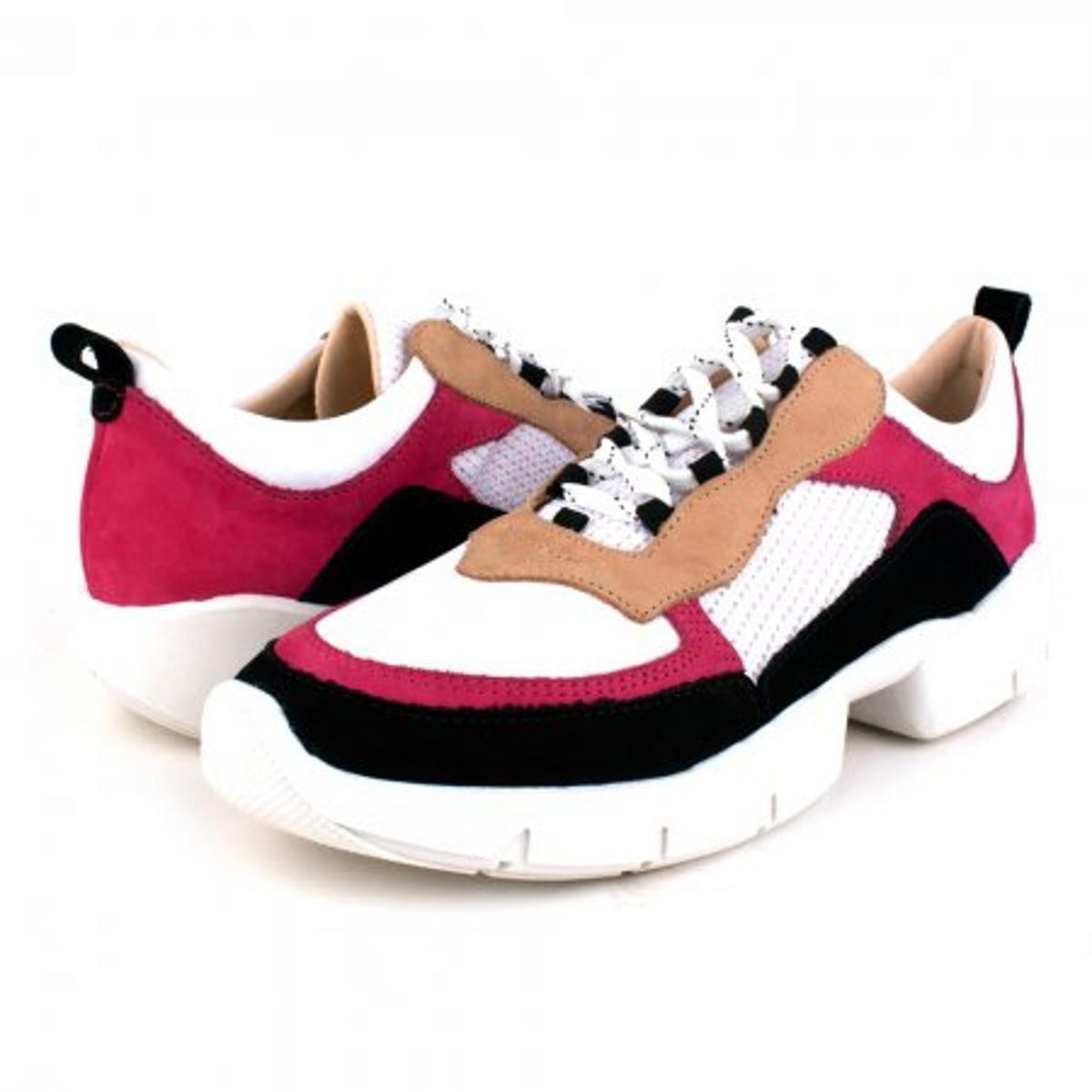 Tenis Trivalle Shoes Nobuck niagara Feminino - Preto e Pink