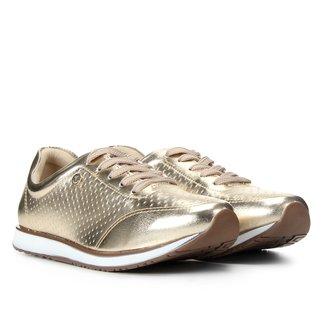 Tênis Via Uno Jogging Metalizado Laser Cut Feminino