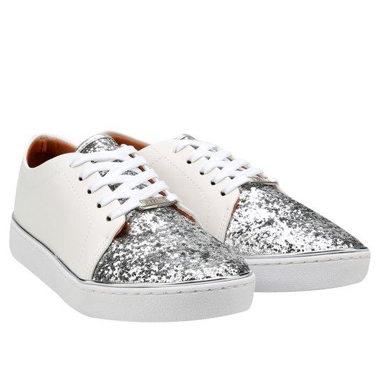 Tênis Vizzano Glitter - Branco+prata