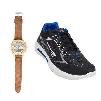 Tênis Zeus Masculino Conforto Resistente + Relógio Analógico
