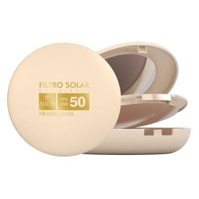 Tonalizante Adcos Filtro Solar FPS 50 Pó Compacto Nude