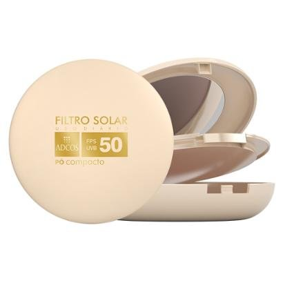 Tonalizante Adcos Filtro Solar FPS 50 Pó Compacto Peach