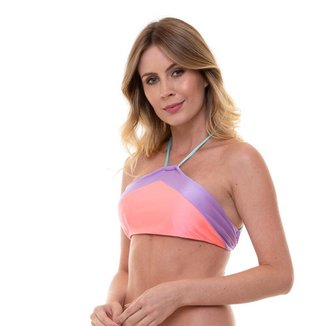 Top BeJoy Cropped Recortes Candy Color Feminino