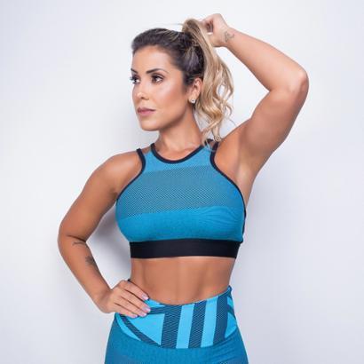 Top Fitness Honey Be Jacquard Feminino-Feminino