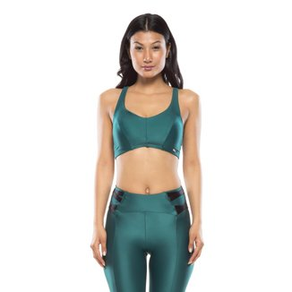 Top Fitness Mulher Elástica Lace Up Feminino