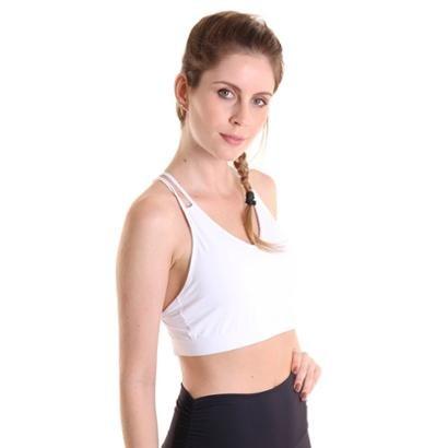 Top Líquido Fitness Sem Bojo Strappy Feminino