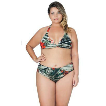 Top Plus Size Agridoce Decote V Estampado