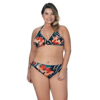 Top Plus Size Decote V Com Detalhe Estampado Agridoce Feminino