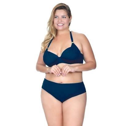 Top Plus Size Meia Taça Drapeado Agridoce Feminino