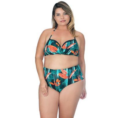 Top Plus Size Meia Taça Transpassado Agridoce Estampado Feminino