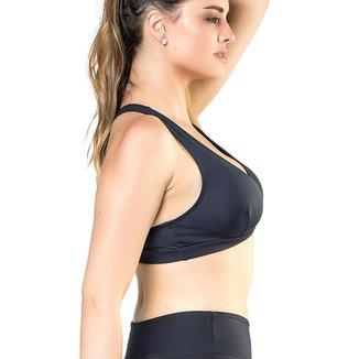 Top Shoulders Elite Feminino UV 50+ Bojo Removível Esporte