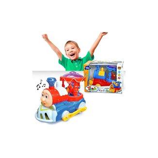 Trem Infantil Trenzinho Thomas E Seus Amigos Bate E Volta Com Carrossel - Dm Toys
