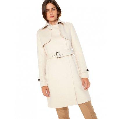 Trench Amaro Coat Alfaiataria Com Cinto-Feminino