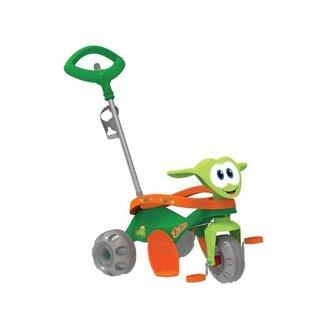 Triciclo Infantil Zootico com Empurrador Bandeira