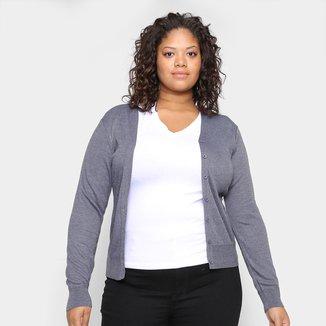Tricô City Lady Plus Size Decote V Feminino
