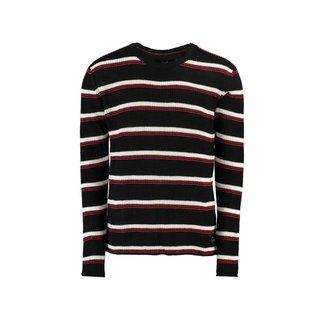 Tricot Blend Striped Chumbo mescla M